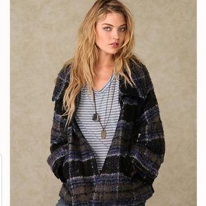 Free people perfect plaid coat